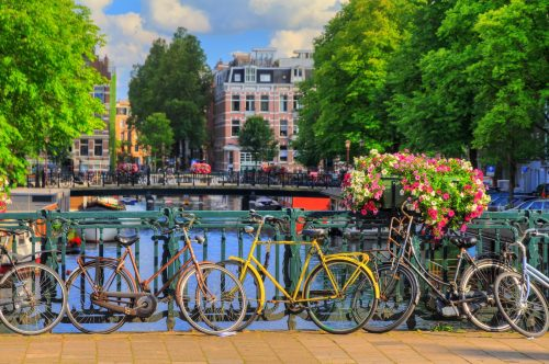 Bikes on the bridge