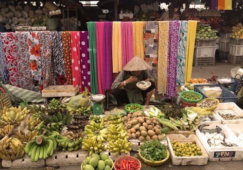 Local market in Cambodia