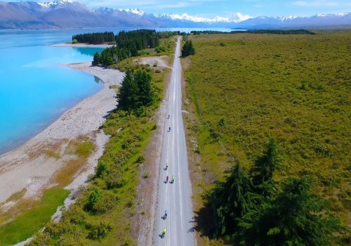 Cyclists in New Zealand