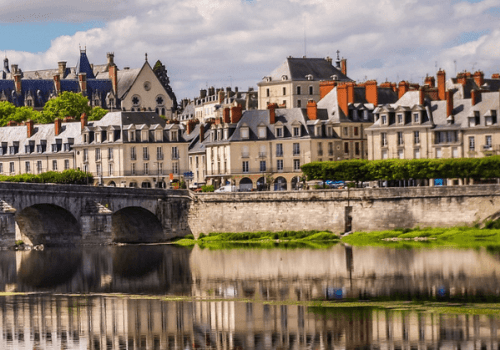 The bridge over the Loire river in Blois, France