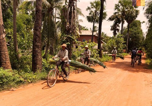 Local people ride in Cambodia