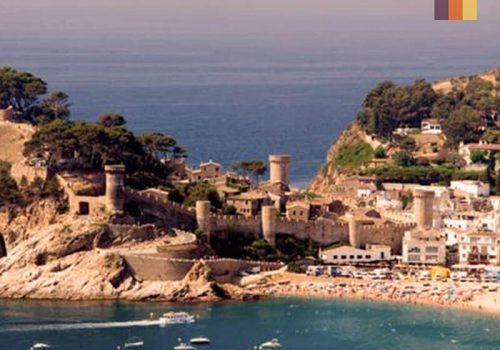 View of coastline in Catalonia