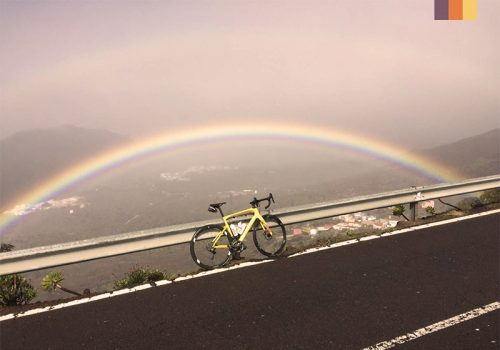 View of a rainbow in Tenerife
