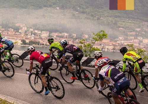 Cyclists ride the Colnago tour