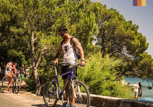 Cyclist at the roads of Croatia