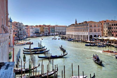 Gondels in Venice