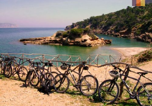 Bikes at the Es Trenc Beach