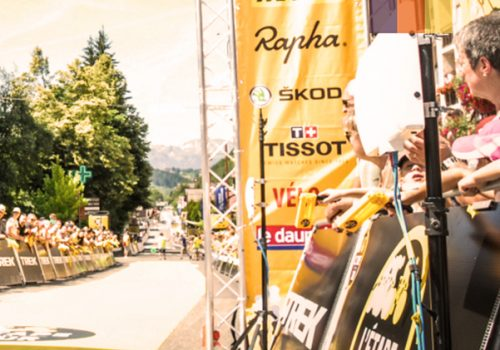Cyclist at the finish line of the Etape du Tour
