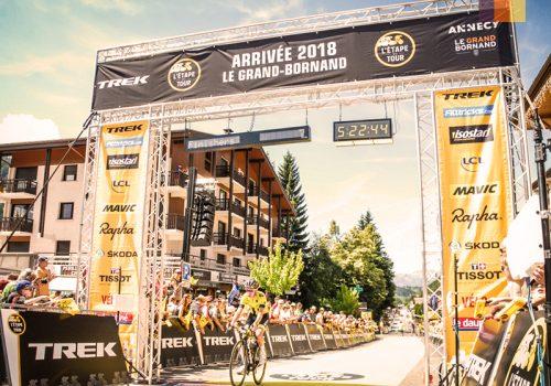 Finish line of the Etape du Tour