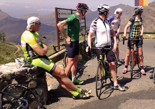 Cyclists take a break