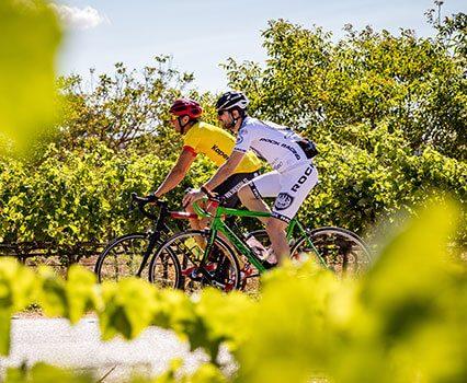 Cyclists in Ibiza