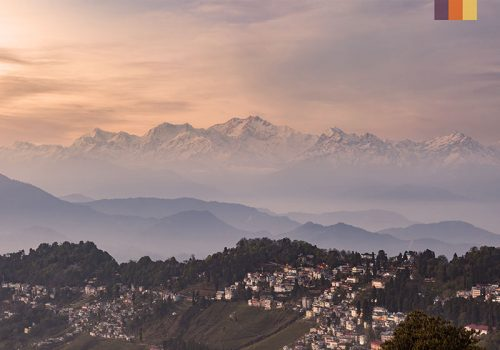 View of the Indian mountains