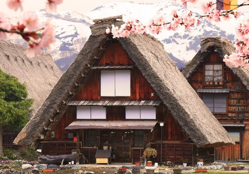 Triangle houses in Japan