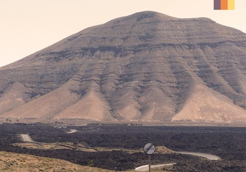 Mountainous landscape in Lanzarote