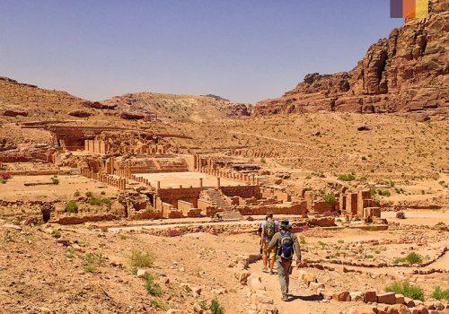 View of Jordan temples
