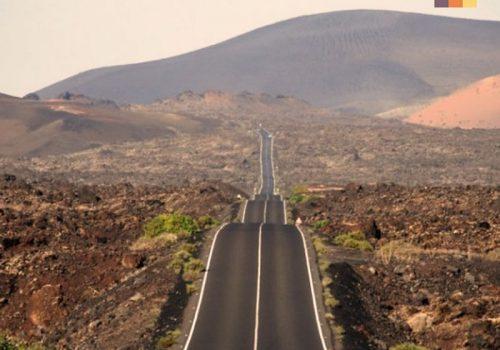 Bumpy road in Lanzarote