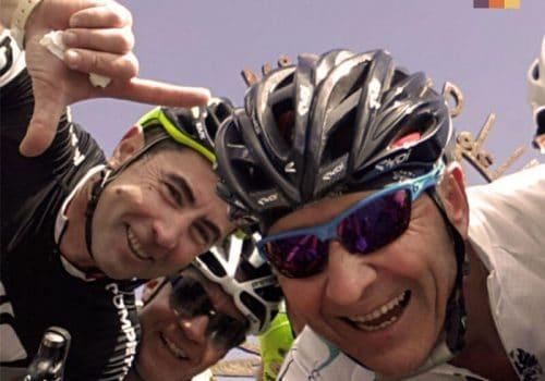 Cyclists take a selfie
