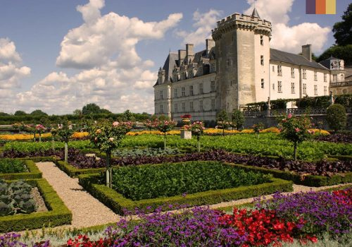 View of the castle at the Loire river