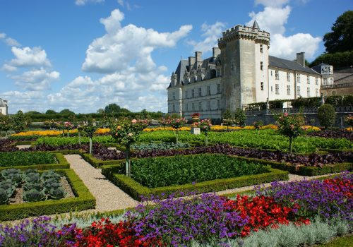 View of the Loire valley castle