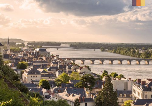 Overview of the Loire river in France