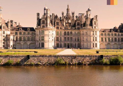 Castle at the Loire river