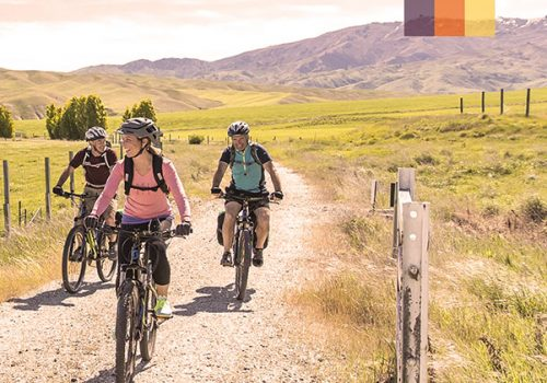 Cyclists ride in Queenstown Otago Trail