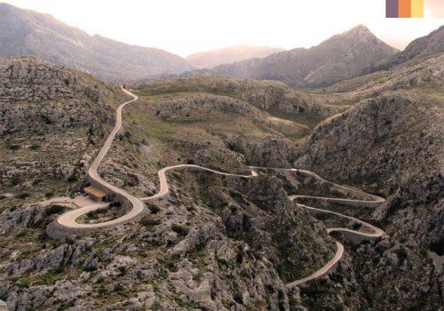 View of the roads in Sa Colobra