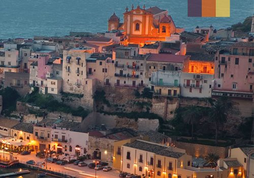View of Sicily at dusk