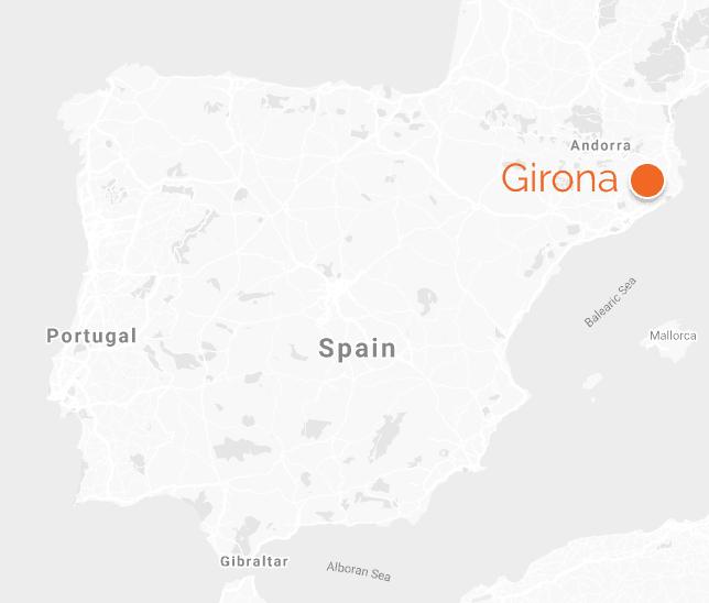 Spain map girona