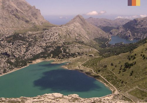 View of 2 lakes in Mallorca