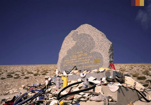 Memorial place at the Mont Ventoux