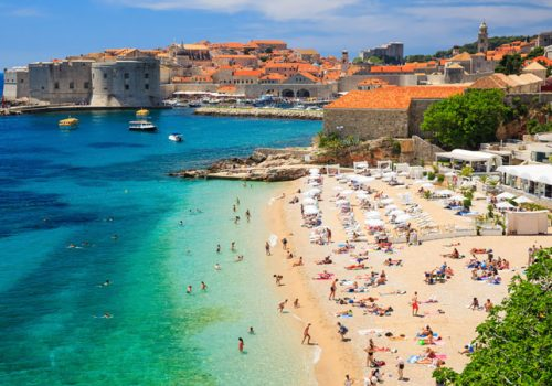 View of the coast in Croatia