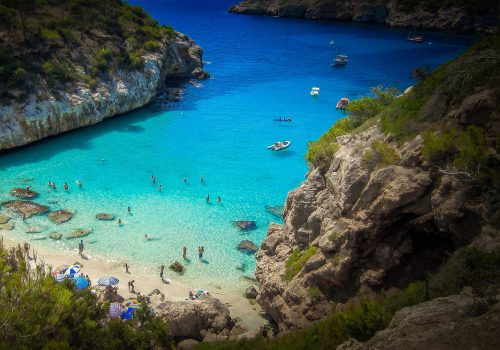 Southern beach in Mallorca