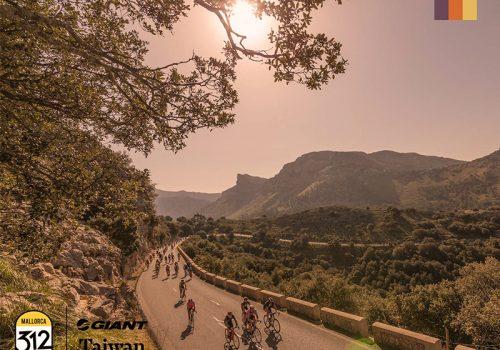 Cyclists ride the Mallorca 312