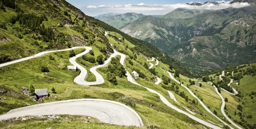 Switchbacks on the Pyrenees