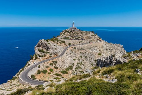 View of the Cap Formentor lighthouse