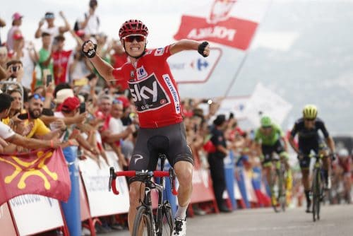Chris Froome winning