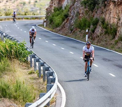 Cyclists in Ibiza