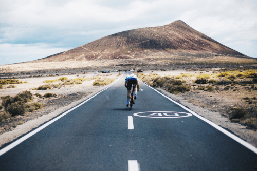 Cyclist in Tenerife