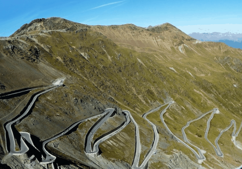View of Stelvio in Italy