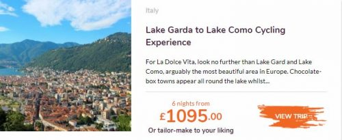 Love Velo Lake Garda to Lake como cycling holiday