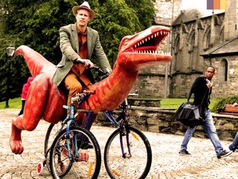 Tri - rannosaurusRex costume for cyclists