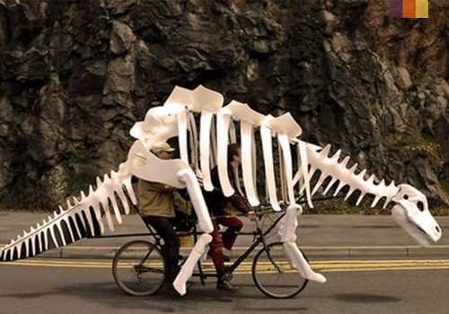 Dinosaurs costume for a Tandem