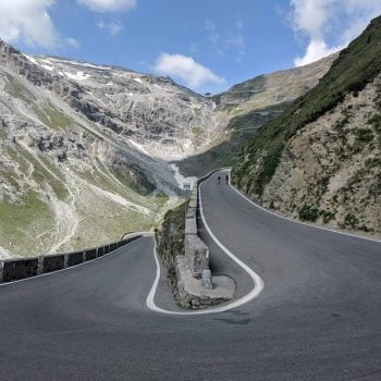View of the Stelvio pass