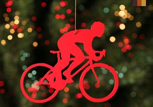 Cyclist hanger for the Christmas tree