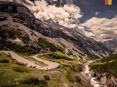 The magnificent mountains of the Stelvio