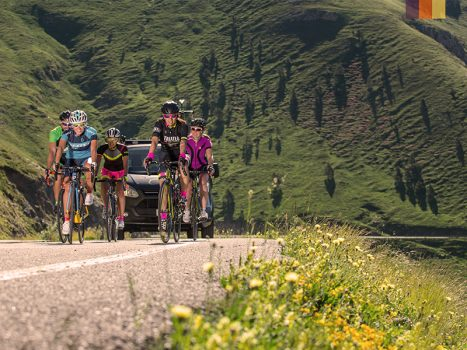 Cyclists ride to the top in Andorra