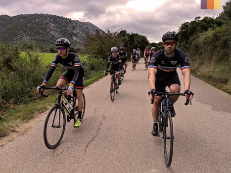 Cyclists ride to Port Pollensa