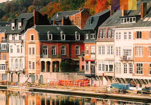 Picturesque houses in Belgium