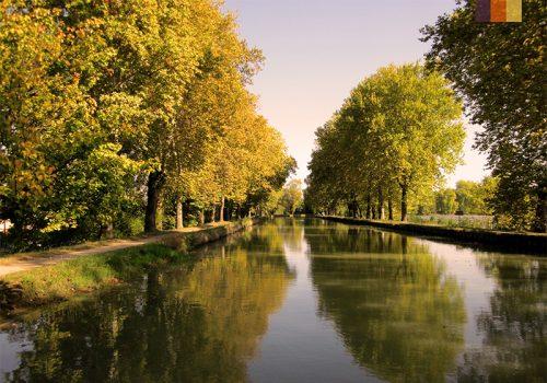 Beautiful view of the Canal de Garonne